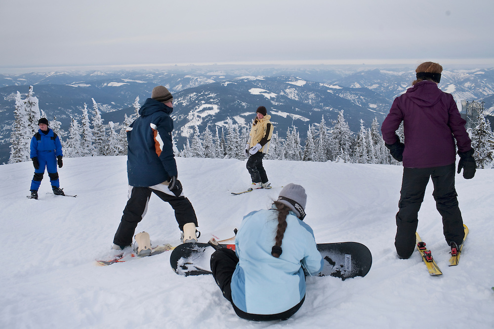 Families enjoy the snow with snowmobiling, skiing and snowboarding, Lister, British Columbia, Canada, Jan. 25, 2009. The Fundamentalist Church of Jesus Christ of Latter Day Saints is one of the largest Mormon fundamentalist denominations and one of United States' largest practitioners of plural marriage.