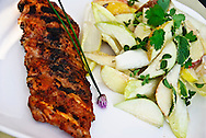 BBQ Spare-ribs with apple, pear and Belgian endive salad with blue-cheese dressing