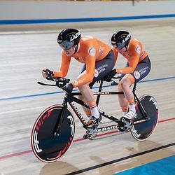 16-03-2019: Wielrennen: WK Paracycling baan; Apeldoorn<br />Larissa Klaassen en gangmaakster Imke Brommer