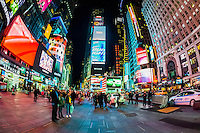 Times Square at night, New York, New York USA.