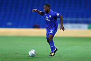Junior Hoilett of Cardiff city in action.Carabao Cup, 1st round match, Cardiff city v Portsmouth at the Cardiff city Stadium in Cardiff, South Wales on Tuesday August 8th 2017.<br /> pic by Andrew Orchard, Andrew Orchard sports photography.