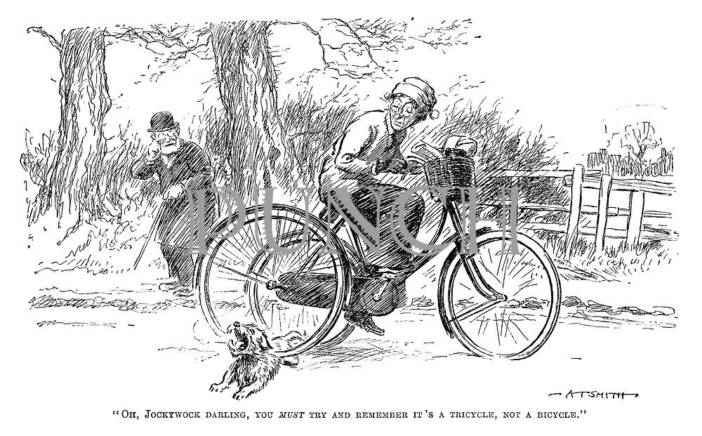 """Oh, Jockywock darling, you must try and remember it's a tricycle, not a bicycle."""