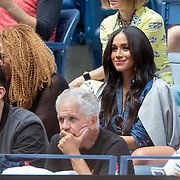 2019 US Open Tennis Tournament- Day Thirteen.    Meghan Markle, Duchess of Sussex in the the team box watching Serena Williams of the United States in action against Bianca Andreescu of Canada in the Women's Singles Final on Arthur Ashe Stadium during the 2019 US Open Tennis Tournament at the USTA Billie Jean King National Tennis Center on September 7th, 2019 in Flushing, Queens, New York City.  (Photo by Tim Clayton/Corbis via Getty Images)