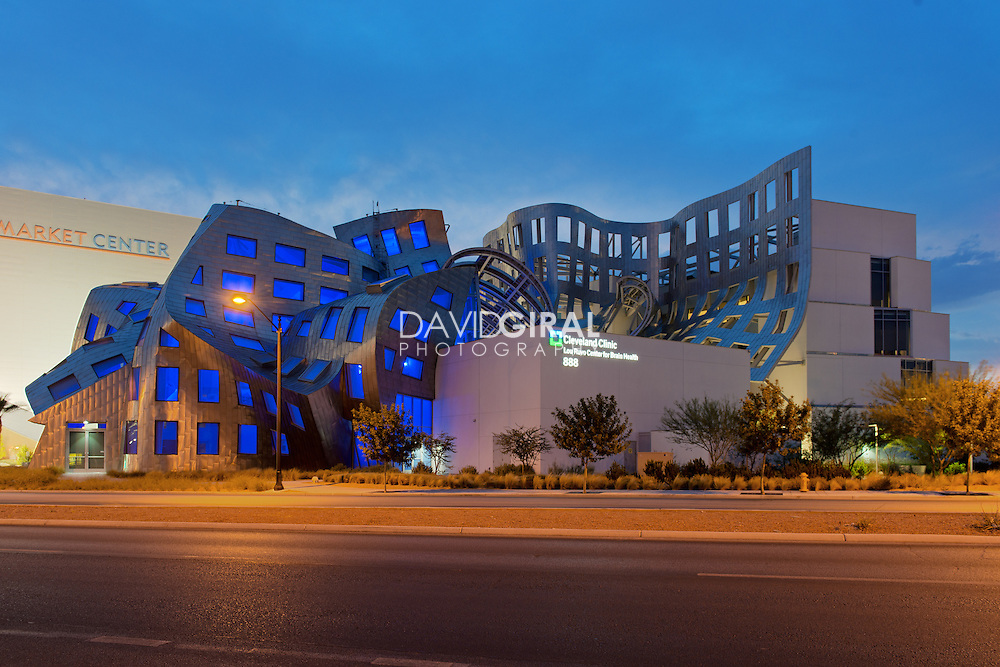 Architecture Photography: Frank Gehry's Cleveland Clinic Lou Ruvo Center, Las Vegas, Nevada, USA