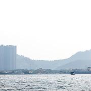 © Maria Muina I MAPFRE. MAPFRE at the In Port Race in Guangzhou. El MAPFRE durante la regata costera de Guangzhou.