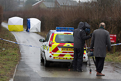 © Licensed to London News Pictures . 15/03/2013 . Bolton , UK . Police are investigating at the scene on Ox Hey Lane , Lostock in Bolton (pictured today, 15th March) where the body of a new born baby was discovered yesterday (14th March) afternoon . Photo credit : Joel Goodman/LNP
