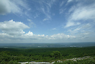 A view looking west from the area near the monument at High Point State Park in New Jersey on June 11, 2007.