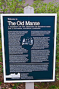 Interpretive sign at the Old Manse, Minute Man National Historic Park, Massachusetts