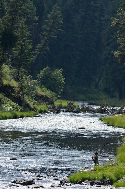 Fishing the North Fork John Day River, Oregon.