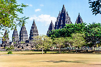 Java, Central Java. Prambanan is a ninth century Hindu temple compound in Central Java, Indonesia.
