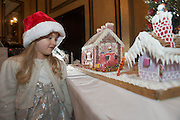 27/11/2014 Repro freeThe wonder of Christmas!  Lia Corcoran Clarinbridge took a peek at Hotel Meyrick's stunning creation of a traditional Gingerbread train station and set which is on display in the parlour lounge until Christmas Eve when it will be donated to the St Bernadette's children's ward at University College hospital Galway, www.hotelmeyrick.ie. <br />  . Photo:Andrew Downes