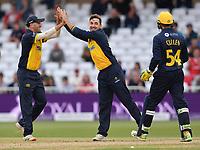 Cricket - 2021 Royal London 50-over Cup - Final - Glamrogan vs Durham - Trent Bridge<br /> <br /> Alex Lees of Durham bowled by Andrew Salter (middle) of Glamorgan<br /> <br /> COLORSPORT/Ashley Western