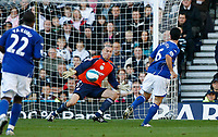 Photo: Steve Bond.<br />Derby County v Everton. The FA Barclays Premiership. 28/10/2007. Mikel Arteta (6) shoots past Stephen Bywater to score for Everton