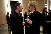 SIMON ENGLISH; BOB AND ROBERTA SMITH, Turner Prize 2010. Tate Britain. Millbank. London. 6 December 2010. -DO NOT ARCHIVE-© Copyright Photograph by Dafydd Jones. 248 Clapham Rd. London SW9 0PZ. Tel 0207 820 0771. www.dafjones.com.