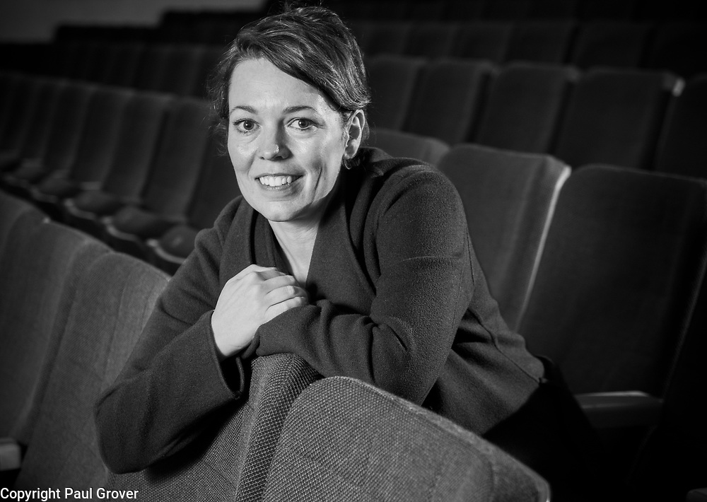 Mcc0052121.DT News. Pic Shows Actress Olivia Coleman ) taking a break from rehearsals for her part as narrater for this Friday's double-bill 'The Snow Queen' and 'The Griffin and the Grail' at  the Cadogan Hall Chelsea