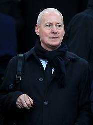 British television presenter Jim White during the Premier League match at Goodison Park, Liverpool.