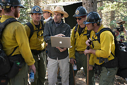 Director Joseph Kosinski talks with Miles Teller, Ryan Busch, Kenny Miller, Ryan Jason Cook, Michael McNulty, Nicholas Jenks on the set of Columbia Pictures' ONLY THE BRAVE.