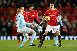 Manchester United's Jesse Lingard (centre) in action during the Premier League match at Old Trafford, Manchester.