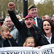 London, UK, 12 April 2019: Soldier F is to face two murder charges and four attempted murder charges over the infamous massacre of 14 civil rights demonstrators by British paratroopers in Derry at the height of the Troubles on January 30, 1972.