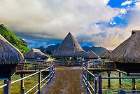 Toatea Restaurant, Hilton Moorea Lagoon Resort, island of Moorea, Society Islands, French Polynesia.