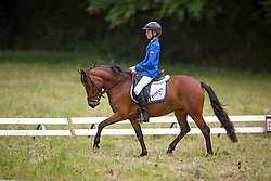 Niessen Zoë (BEL) - Fleur<br /> 6 jaar B dressuur<br /> Finale SBB jonge ponies - Oud Heverlee 2014<br /> © Dirk Caremans