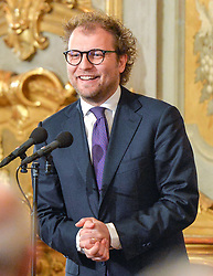March 27, 2018 - Rome, Italy - Luca Lotti during ceremony of the return of the Italian flag by the athletes who participated in the Olympics Winter and Paralympic Games of PyeongChang 2018, Rome on march 27, 2018  (Credit Image: © Silvia Lore/NurPhoto via ZUMA Press)