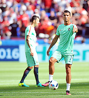 2016.06.22 Lyon<br /> Pilka nozna Euro 2016<br /> mecz grupy F Wegry - Portugalia<br /> N/z Cristiano Ronaldo<br /> Foto Norbert Barczyk / PressFocus<br /> <br /> 2016.06.22 Lyon<br /> Football UEFA Euro 2016 group F game between Hungary and Portugal<br /> Cristiano Ronaldo<br /> Credit: Norbert Barczyk / PressFocus