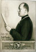 Benito Mussolini (1883-1945) Italian Fascist dictator. Rome 1925.