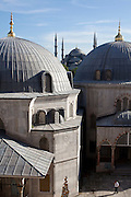 A view from the Hagia Sofia in Istanbul .Originally built by Emperor Justinian stood as the largest world cathedral for more than a thousand years, before being converted into a mosque and, now, a museum...Istanbul 7 June 2012