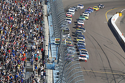 November 12, 2017 - Avondale, Arizona, United States of America - November 12, 2017 - Avondale, Arizona, USA: Denny Hamlin (11) battles for position during the Can-Am 500(k) at Phoenix Raceway in Avondale, Arizona. (Credit Image: © Justin R. Noe Asp Inc/ASP via ZUMA Wire)