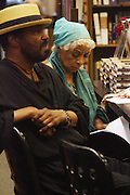 """l to r: Anthony Chisolm and Ruby at the reading of ' Letters from Black America """" A Dramatic Reading with Editor Pamela Newkirk and actors Ruby Dee and Anthony Chisholm held at Barnes & Noble at 82nd Street on July 15, 2009 in New York City"""