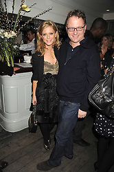 Actress EMILIA FOX and NICK JONES at a party to celebrate the launch of the Cowshed range of cosmetics in aid of the charity Hope & Homes for Children, held at 15-17 Old Compton Street, London on 19th November 2008.