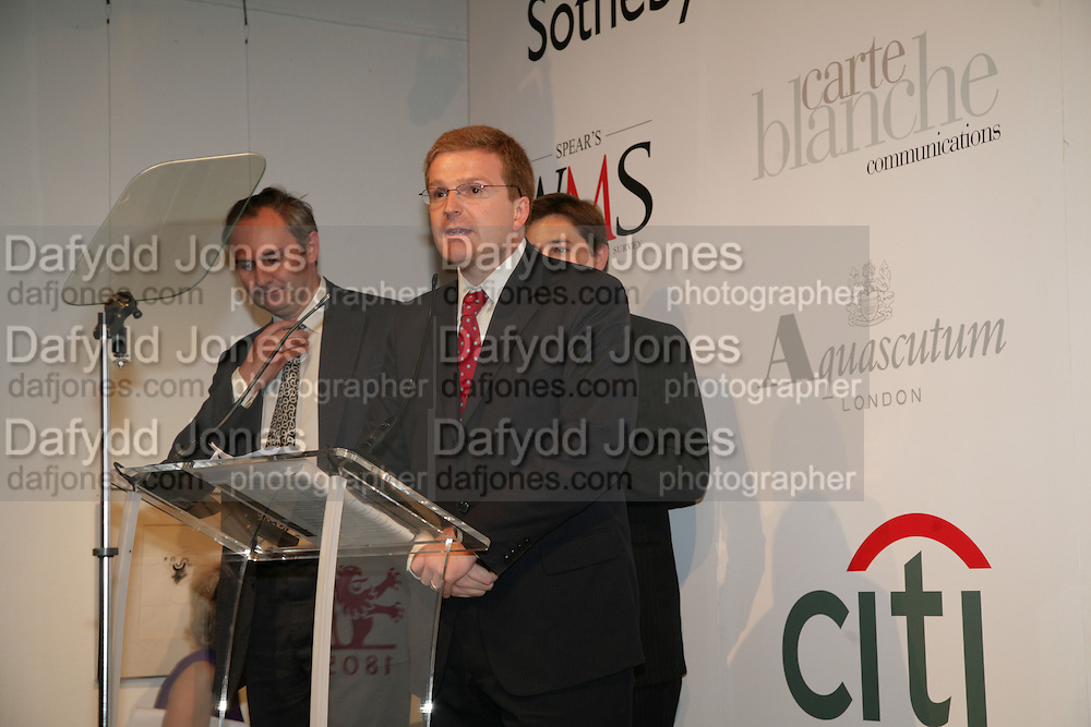 WILLIAM CASH AND PETER CHARRINGTON, Spear's Wealth Management High-Net-Worth Awards. Sotheby's. 10 July 2007.  -DO NOT ARCHIVE-© Copyright Photograph by Dafydd Jones. 248 Clapham Rd. London SW9 0PZ. Tel 0207 820 0771. www.dafjones.com.