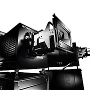 A large Sony projector photographed in the studio using Sharpe angle and creative lighting to create an imposing effect.