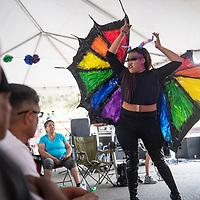 Leslie Lewinski performs at the third annual DinéPride Saturday, June 29 at Veteran's Memorial Park in Window Rock.