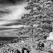 Camping on an island. Maine