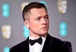 Taron Egerton attending the 73rd British Academy Film Awards held at the Royal Albert Hall, London.