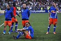 FOOTBALL - FRENCH LEAGUE CUP 2010/2011 - FINAL - OLYMPIQUE MARSEILLE v MONTPELLIER HSC - 23/04/2014 - PHOTO GUY JEFFROY / DPPI - DISAPPOINTMENT MONTPELLIER