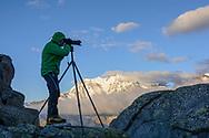 Impressionen beim Rifugio Oberto Maroli am Monto Moro Pass gegenüber der Monte Rosa Nordost-Wand oberhalb der Walsergemeinde Macugnaga im Val Anzasca im Piemont an einem Sommertag im August