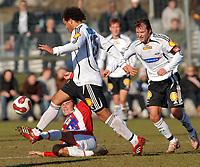 Fotball tipeligaen treningskamp Rosenborg - Tromsø, 23.03.07<br /> Daniel Braaten, Lars Iver Strand, Roar Strand<br /> Foto: Carl-Erik Eriksson, Digitalsport
