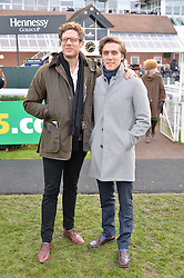 Left to right, JAMES NORTON and JACK FARTHING at the 2015 Hennessy Gold Cup held at Newbury Racecourse, Berkshire on 28th November 2015.