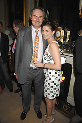 WILLIAM CASH and his fiance VANESSA NEUMANN at the engagement party of Vanessa Neumann and William Cash held at 16 Westbourne Terrace, London W2 on 15th April 2008.<br />