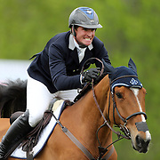 NORTH SALEM, NEW YORK - May 15: Quentin Judge, USA, riding HH Whisky Royale, in action during The $50,000 Old Salem Farm Grand Prix presented by The Kincade Group at the Old Salem Farm Spring Horse Show on May 15, 2016 in North Salem. (Photo by Tim Clayton/Corbis via Getty Images)