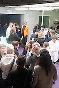 Bloomberg Venice Conversations, Siddhartha Mukherjee, Rirkrit Tiravanija and Tomas Vu Daniel cook lunch for Sarah Sze. Palazzo Peckham. Venice. Venice Bienalle. 31 May 2013