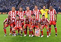 Fotball<br /> Spania<br /> 13.08.2008<br /> Foto: Witters/Digitalsport<br /> NORWAY ONLY<br /> <br /> Team hinten v.l. Diego Forlan, Tomas Ujfalusi, John Heitinga, Raul Garcia, Leo Franco, Luis Perea, vorne v.l. Florent Sinama-Pongolle, Antonio Lopez, Paulo Assuncao, Maxi Rodriguez, Simao<br /> Lagbilde Atletico Madrid