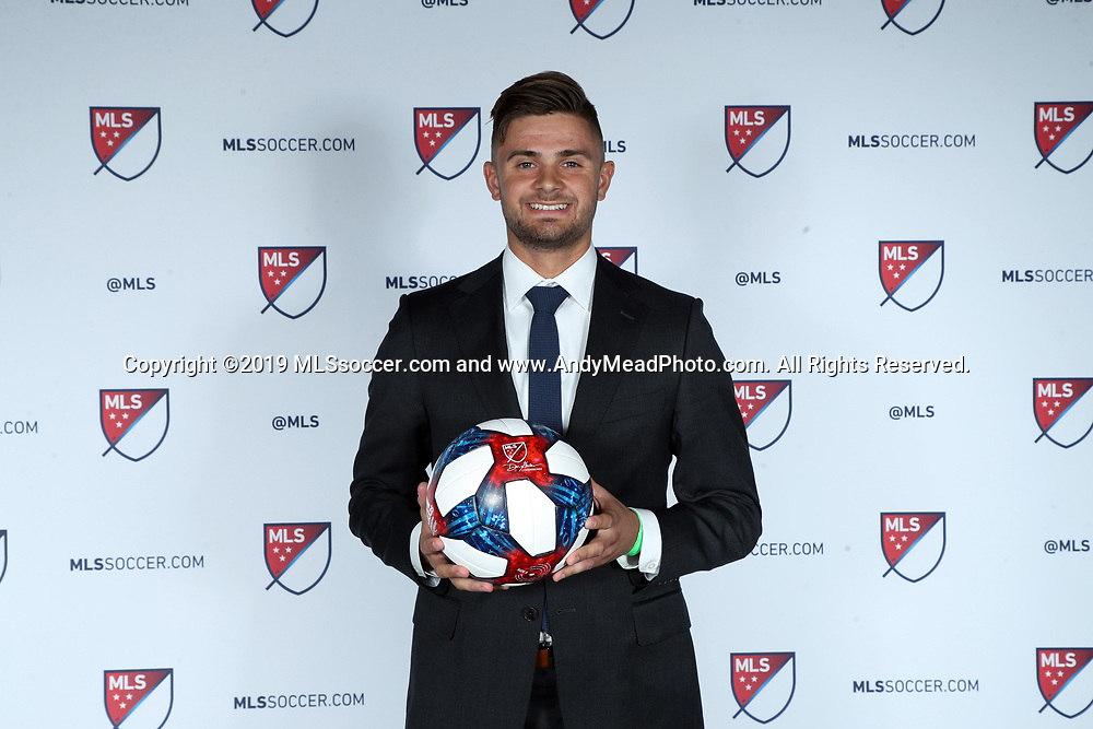 CHICAGO, IL - JANUARY 11: Ryan Sierakowski was taken with the 23rd overall pick by the Portland Timbers. The MLS SuperDraft 2019 presented by adidas was held on January 11, 2019 at McCormick Place in Chicago, IL.