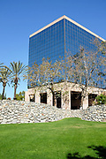 The Anaheim City Hall Building Seen From the Grass Lawn