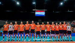 11-08-2019 NED: FIVB Tokyo Volleyball Qualification 2019 / Netherlands - USA, Rotterdam<br /> Final match pool B in hall Ahoy between Netherlands vs. United States (1-3) and Olympic ticket  for USA / Team NL