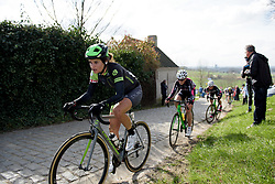 Joëlle Numainville has the top of Paterberg in her sights at Dwars door Vlaanderen 2017. A 114 km road race on March 22nd 2017, from Tielt to Waregem, Belgium. (Photo by Sean Robinson/Velofocus)