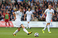 Tom Carroll of Swansea City in action. Premier league match, Swansea city v Watford at the Liberty Stadium in Swansea, South Wales on Saturday 23rd September 2017.<br /> pic by  Andrew Orchard, Andrew Orchard sports photography.